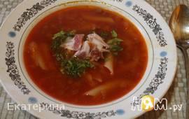 Тосканский красный суп с фасолью