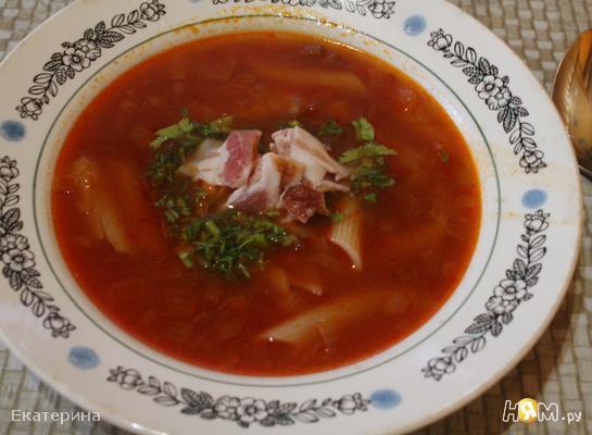 Рецепт Тосканский красный суп с фасолью