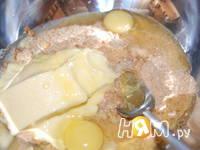 Приготовление чизкейка Персики в облаках: шаг 3