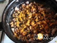 Приготовление теплого салата Вечер у моря: шаг 2