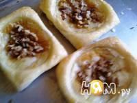 Приготовление слоеных пирожных с инжиром и персиками: шаг 7