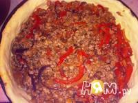 Приготовление картофельно-мяснго пирога с  перцем: шаг 9