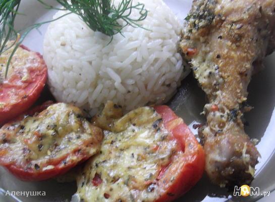 Рецепт Хрустящая курочка с сыром и томатами