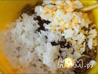 Приготовление блинчиков с мясом и сыром: шаг 2