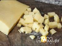 Приготовление блинчиков с мясом и сыром: шаг 3