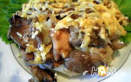 Картофельная запеканка с грибами и лимоном