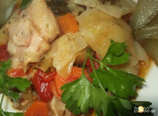 """Свиная грудинка с овощами """" Аппетитная """""""