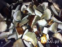 Приготовление соуса из белых грибов: шаг 2