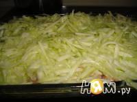 Приготовление ленивой запеканки из кабачка: шаг 4