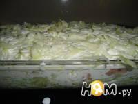 Приготовление ленивой запеканки из кабачка: шаг 5