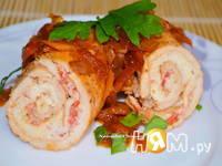 Приготовление свиных отбивных с омлетом: шаг 9
