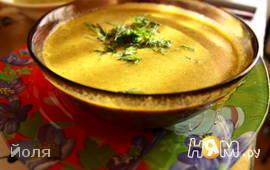 Суп – пюре из моркови и шпината