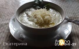 Сливочный крем-суп с цуккини и шампиньонами
