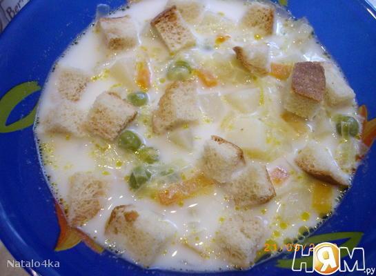 Рецепт Суп молочный с овощами