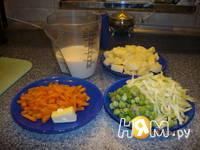 Приготовление супа молочного с овощами: шаг 1