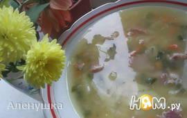 Гороховый суп с копчеными свиными хрящиками