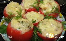 Рыба в помидоре под сыром