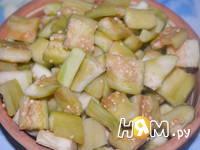 Приготовление салата из баклажан и сладкого перца: шаг 4