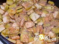 Приготовление салата из баклажан и сладкого перца: шаг 7