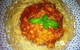 Спагетти с морепродуктами и тунцом