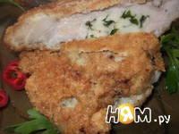 Приготовление фаршированной моцареллой свиной отбивной: шаг 11
