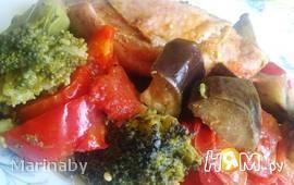 Тушенные овощи с курицей