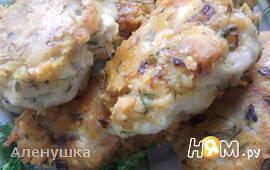 Рубленные куриные котлеты с сыром