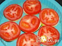 Приготовление кабачков, запеченных с помидором и сыром: шаг 2