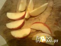 Приготовление яблока с творогом: шаг 4