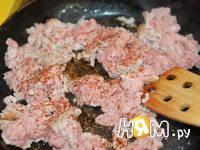 Приготовление кабачков с мясом, запеченных в омлете: шаг 2