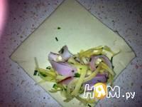 Приготовление пирожков слоеных с ветчиной и сыром: шаг 7