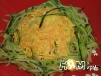 Приготовление салата с тыквой и огурцом: шаг 4