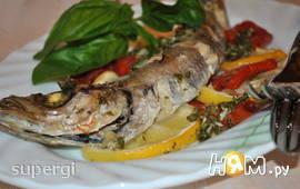 Рыба путассу запеченная с лимоном и томатами