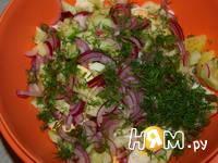 Приготовление салата с треской: шаг 8