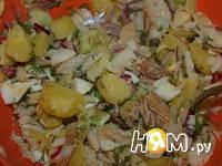 Приготовление салата с треской: шаг 9