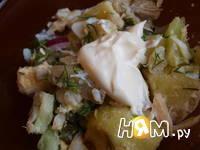 Приготовление салата с треской: шаг 10