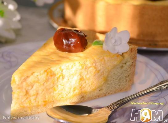 Рецепт Пирог с творожно - тыквенной начинкой