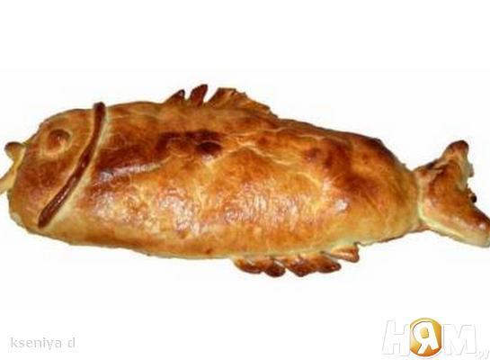 Пирог из двух сортов рыбы