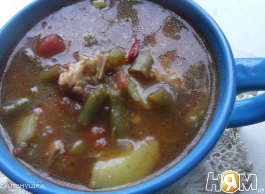 Рецепт Острый суп со стручковой фасолью