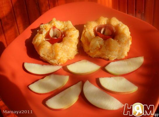 Рецепт Пудинг из тыквы с яблоком