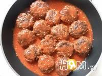 Приготовление мясных тефтелей в соусе: шаг 22