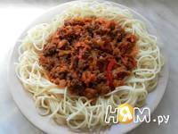 Приготовление спагетти с фаршем и овощами: шаг 20
