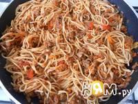 Приготовление спагетти с фаршем и овощами: шаг 21