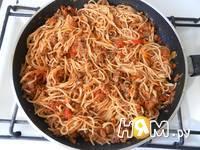 Приготовление спагетти с фаршем и овощами: шаг 22