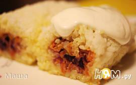 Рулет рисовый с овощами