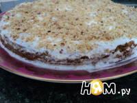 Приготовление морковно-орехового пирожного с кремом: шаг 11