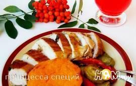 """Запечённая курица """"Осенняя рапсодия"""""""