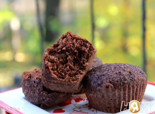 Шоколадные овсяные кексы на пару