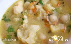 Суп овощной с пельменями