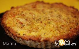 Мясное лукошко с вермишелью и сыром
